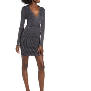 Nordstrom Row A Metallic Ribbed Dress